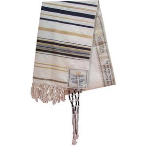 JKRISING mesiánico Je talit azul y oro Oración Chal Talit y Talis Bolsa Oración bufandas Y1105