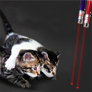 Factory price In1 funny cat stick New Cool 2 Red Laser Pointer Pen With White LED Light Childrens Play DOG Toy