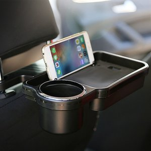 Rear Back Seat Table Drink Cup Stand Food Tray Mobile Phone Holder Folding Bracket Auto Interior Travel Desk Car Accessories