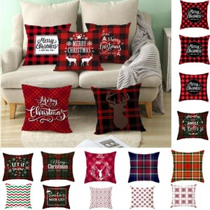 2020 New Christmas Snowflake Pillowcase New Year Decor Santa Cushion Covers Home Sofa Pillow Case Xmas Pillow Cover Party Supplies HH9-3555