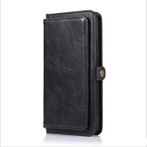 2 في 1 الهاتف حالة المحفظة لفون 11 XS الموالية كحد أقصى مع 9 فتحة لبطاقة 2 النقدية فتحة فيلب حقيبة جلد المغناطيسي الهجين لسامسونج A20 S9