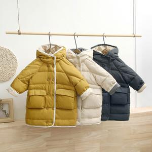 HYLKIDHUOSE 2019 Meninas de Inverno Meninos Branco Duck Down Jacket Coats Criança de Down com capuz exterior Thicken Aqueça neve caçoa LJ201007 Wear Jacket