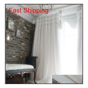 Korean Princess Style White Lant Window Blackout Curtains For Living Room Girls Bedding Room Drapes Cotinas Para jllnrR jhhome
