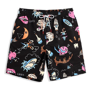 Mens Summer Beach Shorts Swimwear Seaside Swimming Quick Drying Board Shorts Surfing Running Beach Trunks
