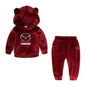 Child Long Sleeve Hedging Hoodie New Brand Mazda Car Custom Print Cotton Polyester British Style Casual Child Suit Selling 1004