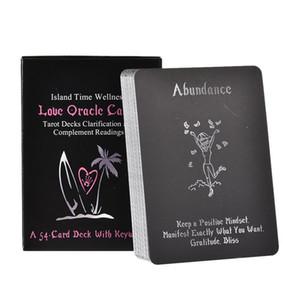 54pcs Island Time Wellness Aşk Oracle Kartları Tarot ile Anahtar Açıklama Ve Tamamlayıcı Okumaları Kurul Oyun Kartları bbyTyW Çalma