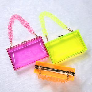 Color Women Jelly Handbags Designer Bag Luxury Chains Mini C1009 Purse Acrylic Crjgf Purses Crossbody Fashion Shoulder Candy Ladies Kmlux