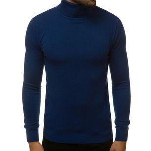 Hombres New Otoño Invierno Suéter Masculino Color de tortuga Sólido Sweater Sweater Slim Fit Punto Suéteres Suéteres