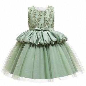 Macaron-Mädchen-Kleid-Spitze-Blumen-Prinzessin-Hochzeit für Mädchen Children 's-Kind-Kleidung-Abend-Partei Pricess Kleider L5177 myfQ #