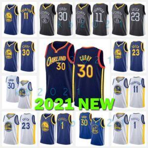 Stephen 30 Curry Basketball Jersey Klay 11 Thompson d'Angelo 1 Russell Draymond 23 Etat Golden GoldenGuerriersJerseys Hommes