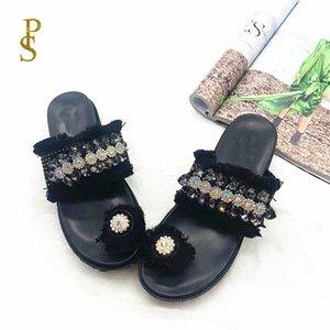 أحذية نسائية مزينة المسامير الغريبة الأحذية النسائية الأحذية أسافين الأم شبشب المرأة X1020