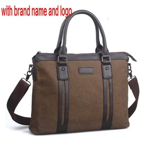 male men top canvas briefcase bag High quality handle laptop notebook handbag business casual single shoulder messenger bag KtDAm 6597