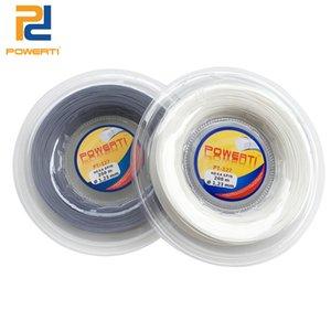 Powerti 1.23mm Sechseck-Tennis-String Top-Spin-Polyester-Training Tennisschläger String 200m Rolle Leistungssteuerung schwarz 201116
