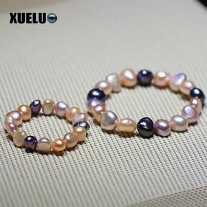 Bracciali perla per perle barocche naughty multi colore naturale Xueluo Stretch Bracciali perla per gioielli Parent-Bracciale per bambini