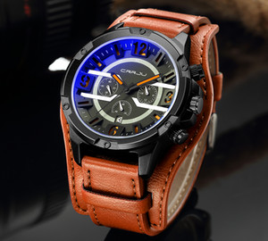 2020 Crrju Nueva marca Top Top Luxury Mens Strap Strap Watch Impermeable Casual Quartz Wristwatch para Hombres Relogio Masculino