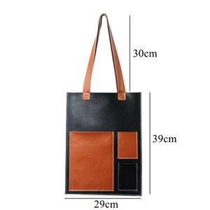 WOONAM Женщины Мода натуральной телячьей кожи плоский Мульти Pocket Book Holder Tote сумки Сумка WB638