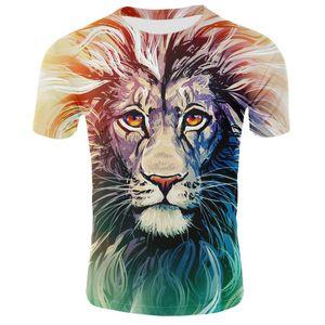 New summer animals T-shirts men men women T-shirts lions t-shirts