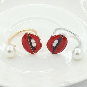Joyas de anillo abiertas de ojo malvado de cristal colorido para anillo de perlas de boda