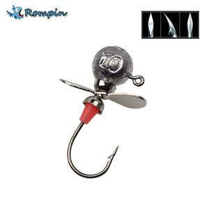 3pcs wheel head 5g 7g 10g 14g Propeller Airscrew Sonic Vibration Jig Head Fishing Hook Lead Rig Jig Lure Soft Worm Jigging Hook