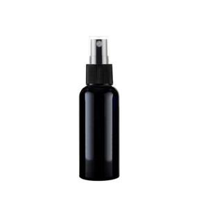 100pcs / lot 50ml aerosol negro perfume bomba botella de plástico, los envases vacíos de cosméticos agua floral pulverizador