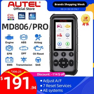 Autel MaxiDiag MD806 & MD806 Pro OBD2 Car Automotive Diagnostic Tool OBD 2 Auto Scanner Full System Diagnoses PK MD802 MD805