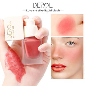 DEROL Liquid Peach Blush Palette Matte Cosmetics Repair Matte Face Contour Face Cheek Blusher Gel Creamy 0258