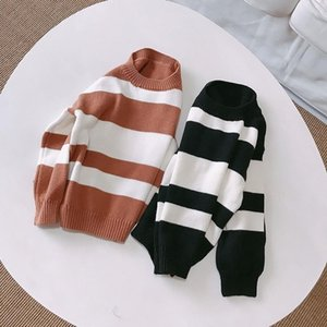 2021 fashion girls boys striped sweaters knitted pullover kids sweater baby tops