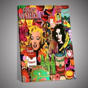 Andy Warhol Wallpaper Hd Oil Painting Posters and Prints Wall Decor for Living Room Canvas Painting Wall Art Picture Home Décor