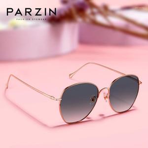 Солнцезащитные очки Parzin Женщины Качество Световольно Цветные Линзы Солнцезащитные Очки для Моды Большой Рамка Корейский Леди Тени 82531