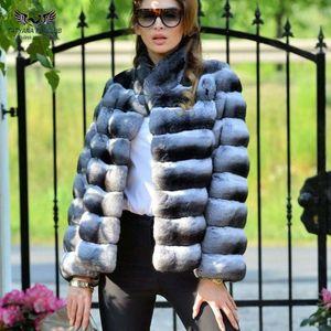 여성 겨울 모피 재킷 짧은 슬림 착실히 보내다 패션 캐주얼 파카 정품 토끼 모피 최고 CoatsX1018를 들어 일러스트 Tatyana Furclub 리얼 모피 코트