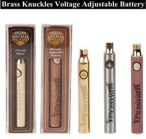 Pen Preheat Thread 650mah 510 Vaporizer 510 For Vv Battery Vs Vape With Knuckles Adjustable Battery Brass 900mah bbyVk packing2010