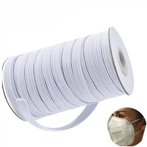 200 Yards Width 0.6 0.5 0.3cm Length 0.12 Inch Width Braided Elastic Band Cord Knit Band For Sewing DIY Mask Bedspread