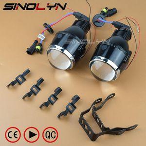 SINOLYN Bixenon Fog lights Projector Lens Bifocal Driving Fog Lamps Retrofit High  Low Kit Car Motorcycle Universal Waterproof