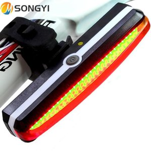 Songyi 2021 велосипед светло-велосипедный задний светильник велосипедная лампа ночной задний USB зарядки светодиодные сигнальные огни горы Y76