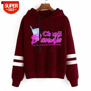 Charli d'Amelio Harajuku Mit Kapuze Herbst Damenbekleidung Teenager Mädchen Lustige Charli d'Amelio Übergroße Hoodies Frauen Sweatshirts # BE50