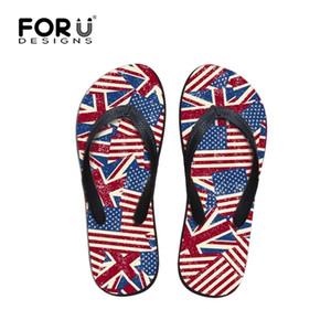 Freizeit Herren Flip Flops Sommer Stil UK USA Flagge Druck Flipflop Für Männer Marke Flache Slipper Strand Sandalen Hohe Qualität T200408
