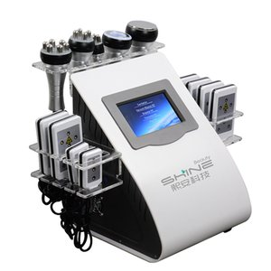 New Promotion 6 In 1 Ultrasonic Cavitation Vacuum Radio Frequency Lipo Laser Slimming Machine for Spa