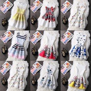 Digital Damen New Summer Printing Sleeveless Dress Pompous Rock 60 Farbauswahl