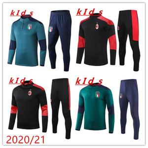 Kids Training Suit 20 21 Equipe Nacional Crianças 2020 2021 Italia Tracksuit Chandal Futbol Manga Longa Futebol Boys Sweater Tracksuit