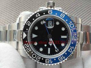 Erkek En Kaliteli İzle BP 40mm GMT 116710 116710blnr Blue Luminescent Seramik Asya 2813 Hareket Mekanik Otomatik Erkek Saatler