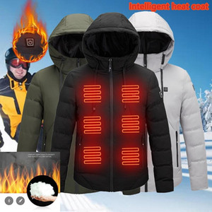 Fashion Men Women Electric Heated Jacket Heating Waistcoat USB Thermal Warm Cloth Feather Hot Sale Plus Size Winter Jacket