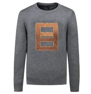 Carta Bordados Mens Womens Designer Sweater Homens pulôver manga comprida Ativo camisola Malha Roupa de inverno 3 cores
