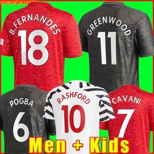 Manchester 2020 2021 soccer jerseys UNITED CAVANI UTD VAN DE BEEK B. FERNANDES RASHFORD football shirt 20 21 man + kids kit HUMANRACE fourth