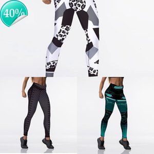 12%spandex Sexy Qickitout High Waist Elasticity Women Digital Printed Leggings Push Up Strength Pants NP95