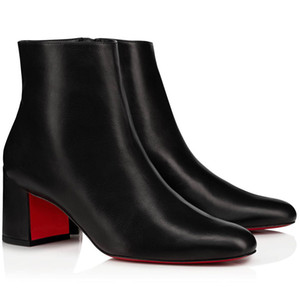 Pretty Women Ankle Booties Autunno Inverno Boot Red Bottoms Tacchi Stivali, Parigi suole rosse Tallone Donne Pumps Booties Turela Suede Stivaletti