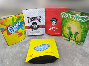 2021 sterlina Mylar Bag Jefe Insane Gushers Grandi dimensioni 454G 16oz Plastica con cerniera richiudibile Herb Herb Flower Edibles Packaging Stand Up Pouch