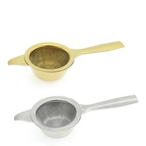 Paslanmaz Çelik Çay demlik Taşınabilir Baharat Çay Süzgeç Altın Siliver Mesh demlik çay Filtre Strainers Mutfak Aletleri VT1886