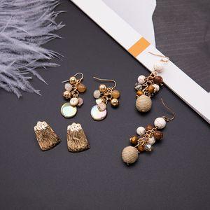 Pendientes de bolas de lana de clip de oreja punk personalizada personalizada