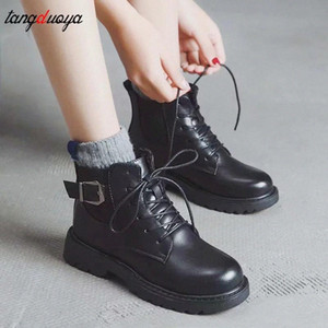 Black Thick Bottom British Wind Martin Boots Female 2020 Autumn And Winter New Students Korean Version Of The Wild Short Boots #Dg5I