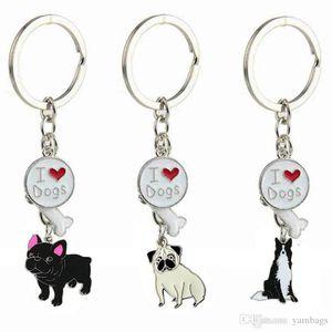 Kalp Anahtarlıklar Hayvan Anahtarlık Köpek Kemik Anahtar Zincirleri Kadın Erkek Kız Erkek Için Promosyon Moda Pet Charm Anahtarlık Takı
